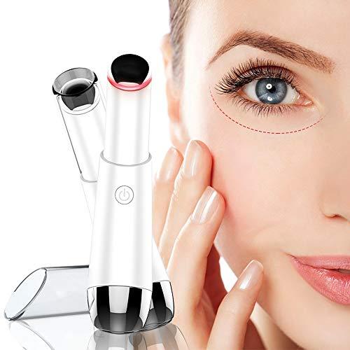 Eye Massager,Facial Body Lip Eye Massager Roller Tool Wand Pen,Heated Sonic Vibration Dark Circles Fatigue Relief,Anti…