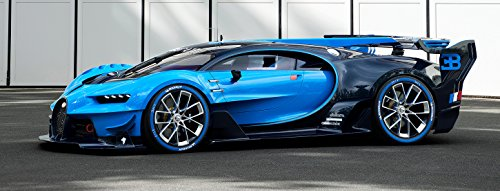 Bugatti Chiron Vision Grand Turismo Poster 58x22 Art GT LeMans Race Car Veyron Auto Exotic