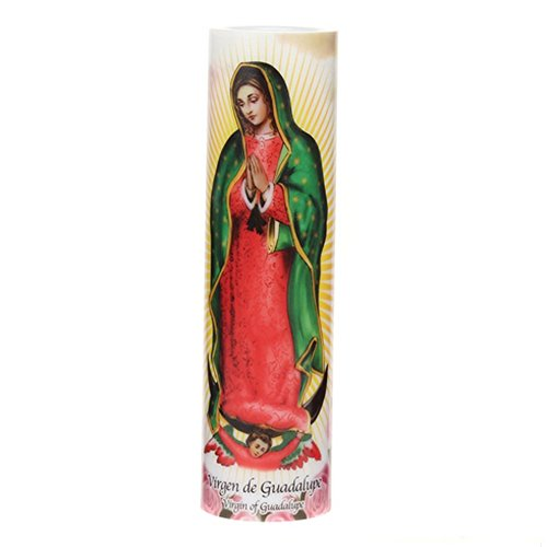 The Saints Gift Collection New LED Flameless Devotion Candle Virgin of Guadalupe