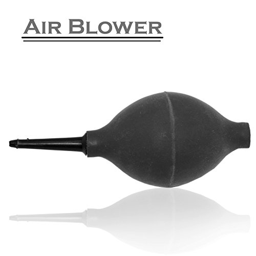 Rubber Air Pump Cleaner Dust Blower for Keyboard,Digital SLR Camera, Lens, Watch, Cell Phone, Computer Laptop PC and Screen-Black (Television Inflatable Screen)