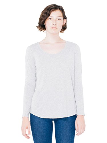american-apparel-womens-long-sleeve-ultra-wash-tee-heather-grey-medium