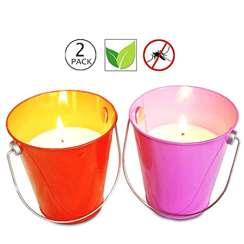 Citronella Bucket - YYHC 13.5 oz Citronella Wax Bucket Candles 2-Pack