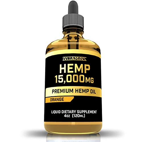 iVitamins Hemp Oil Drops for Pain and Anxiety : 15,000mg : May Help with Stress, Inflammation, Pain, Sleep, Anxiety…