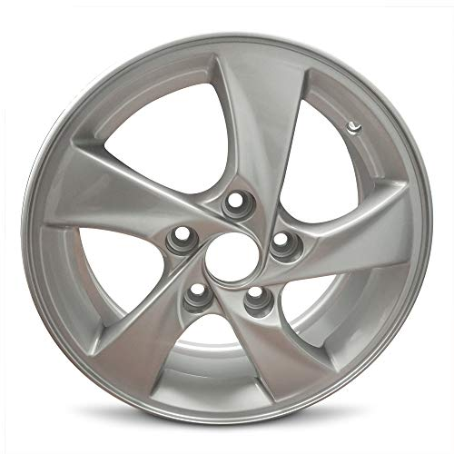 Road Ready Wheels Replacement For 2014-2016 Hyundai Elantra 15 Inch 5 Lug Silver Aluminum Rim Fits R15 Tire