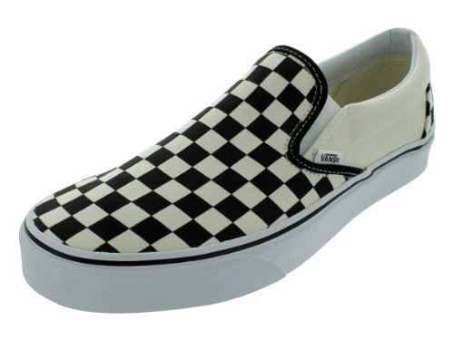 Vans Unisex Classic Slip On  Checkerboard  Blk Whtchckerboard Wht Skate Shoe 7 5 Men Us   9 Women Us