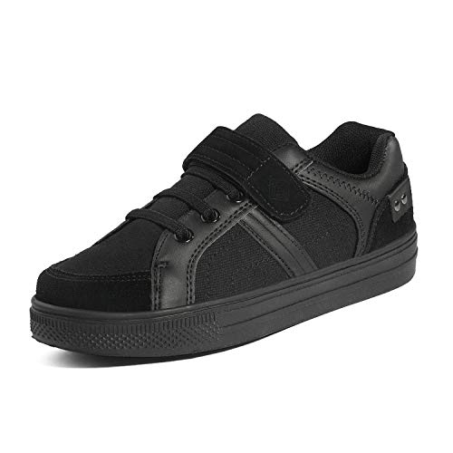 DREAM PAIRS Toddler Boys' 151014-K All Black School Loafers Sneakers Shoes Size 9 M US Toddler
