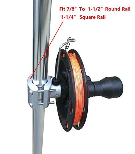 Brocraft Manual Planer Reel / Rail Mount Reel / Teaser - Mast Reel