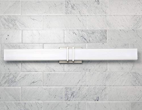Exeter Modern Wall Light LED Brushed Nickel 36