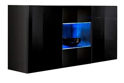 Credenza Moderna Laccata Nera : Muebles bonitos credenza sospesa moderna design varedo nero