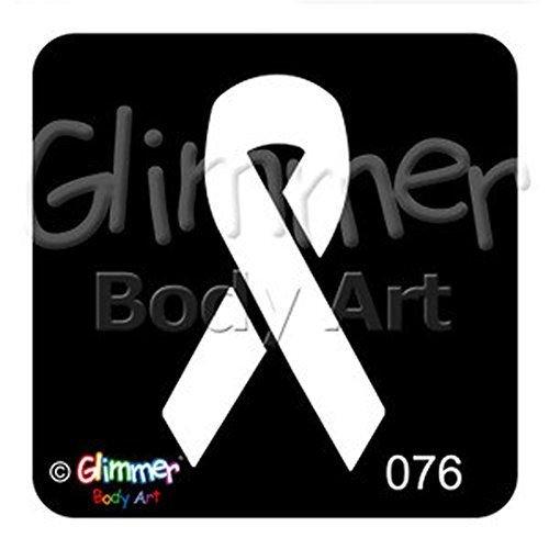 Glimmer Body Art Tattoo Stencil - Awareness Ribbon (5/pk) (Ribbon Stencil)