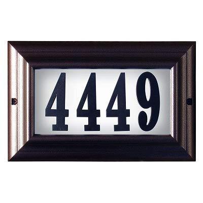 [해외]Qualarc Edgewood Large Lighted Address Plaque in Antique Copper Frame Color with LED Bulbs / Qualarc Edgewood Large Lighted Address Plaque in Antique Copper Frame Color with LED Bulbs