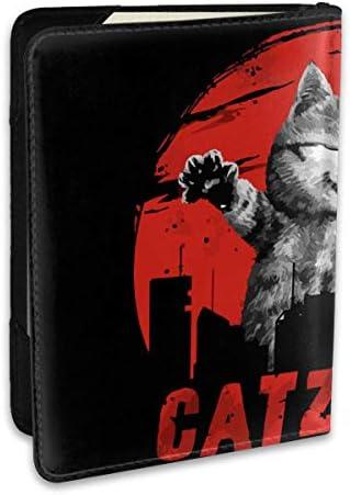 ART Catzilla カジラ パスポートケース パスポートカバー メンズ レディース パスポートバッグ ポーチ 収納カバー PUレザー 多機能収納ポケット 収納抜群 携帯便利 海外旅行 出張 クレジットカード 大容量