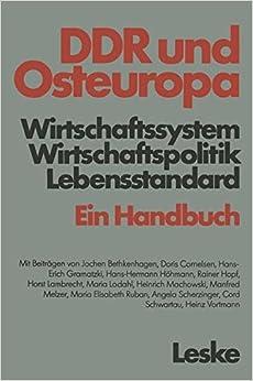 Ddr und Osteuropa: Wirtschaftssystem, Wirtschaftspolitik, Lebensstandard