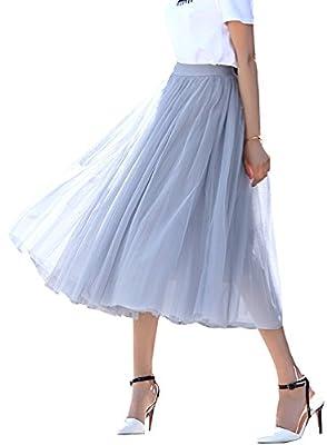 Futurino Women's A Line Short Knee Length Tutu Tulle Prom Party Skirt