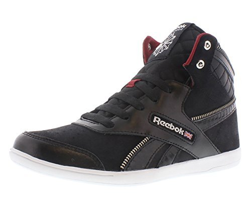 Reebok Women's BB 7000 Mid Lace-Up Fashion Sneaker,Black/White/Mesa Red/Flint Grey Metallic,10 M US Reebok Bb