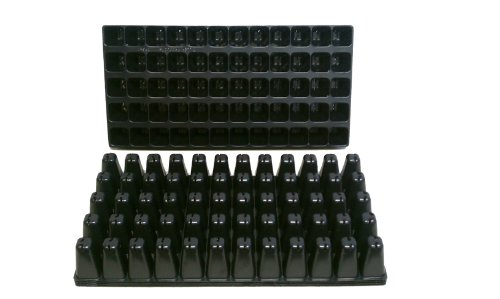 10 Plastic Seed Starting Trays - Each Tray Has 60 Cells ~ Cells Are 1 5/8'' Square X 2 6/8'' Deep. Great Propagation Trays by Nursery Supplies
