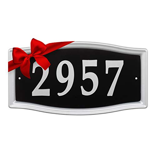Whitehall Products 11199 Easy Street Address Plaque-Silver (Lighted Numbers Metal)
