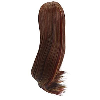 MonkeyJack DIY Dolls Straight Hair Wig Hairpiece for 18'' American Girl Dolls DIY Making Brown
