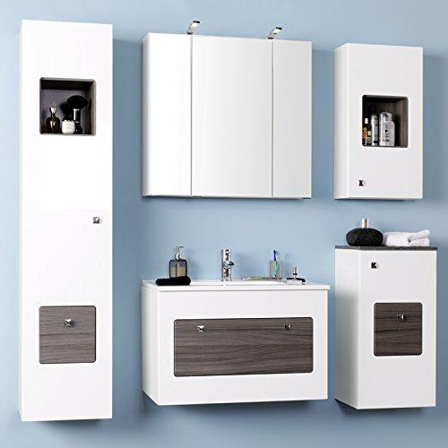 Komplett Badezimmer Set Badmbel Wei Spiegelschrank Led Waschtisch