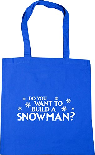 You Tote litres to Do Cornflower Snowman HippoWarehouse Beach a 42cm Gym Blue Shopping Want Build Bag 10 x38cm HqFn50