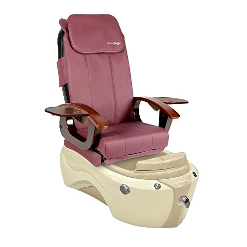 SERENITY-Shiatsulogic Pedicure Spa 5103 Chair w/ Discharge Pump & Burgundy Cover by MAYAKOBA