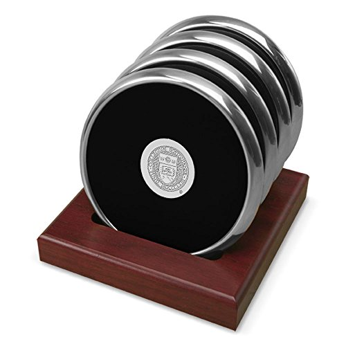 NCAA Boston College Eagles Adult Set of Four Coasters in Stand, One Size, Silver by CSI International
