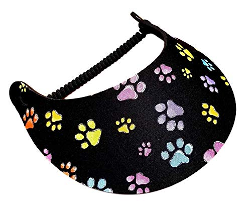 The Incredible Sunvisor Available in Beautiful Patterns Perfect for Summer! Made in The USA! (Paws 1)