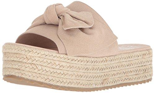 Coolway Mujeres Winky Espadrille Wedge Sandal Beige