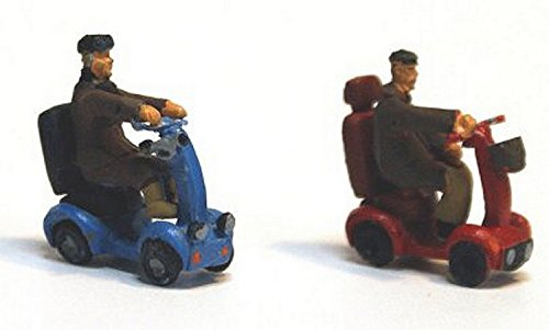 Langley Models 2 Mobility Scooters + disabled figures OO Scale UNPAINTED Kit (Finished Model Scale)