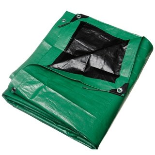 30' x 50' Heavy Duty Green/Black Reversible 10 Mil Poly Tarp by Comfitwear