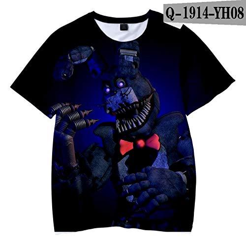 - KoreaFashion FNAF Shirt Cotton Merch Shirts for Boys Girls Womens Mens Youth Birthday Welcome Funny Nightmare Print