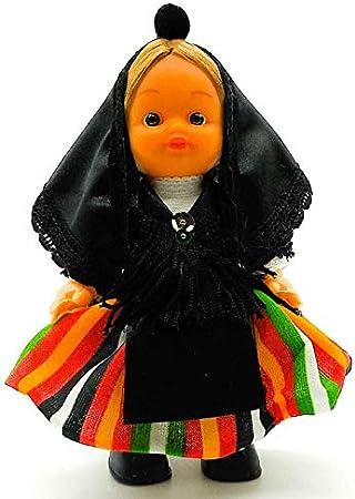 Amazon.es: Folk Artesanía Muñeca Regional colección de 15 cm con Vestido típico Aranesa (Valle de Arán) España.: Juguetes y juegos