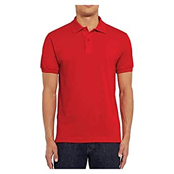 Santhome Cotton Polo Shirt for Men - Red