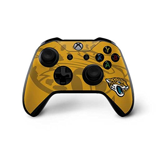 Skinit Jacksonville Jaguars Double Vision Xbox One X Controller Skin - Officially Licensed NFL Gaming Decal - Ultra Thin, Lightweight Vinyl Decal Protection