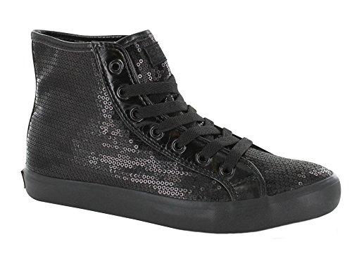 Gotta Flurt DISCO II HI G High Top Sneaker, Black/Black, 12 by Gotta Flurt