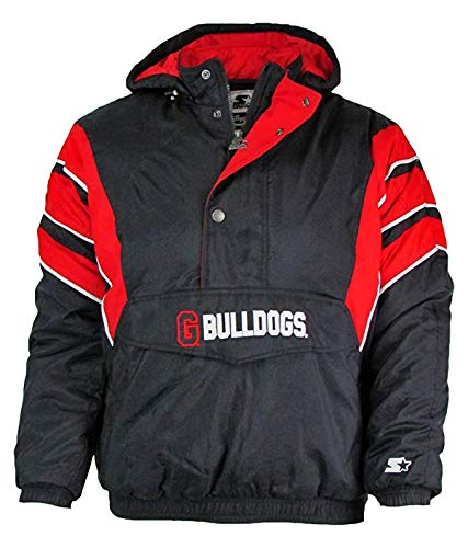 STARTER Georgia Bulldogs Mens Size X-Large 1/4 Zip Winter Jacket AUGR 50 XL (Georgia Jacket Starter)