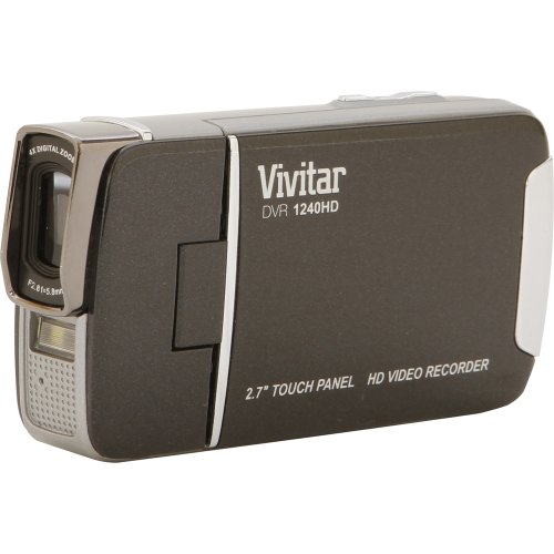 Vivitar DVR1240HD-BLK 12.1MP Full HD Digital Camcorder with 4X Digital Zoom Video Camera with 2.7-Inch LCD Screen (Black)