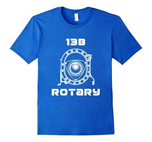 Mens ROTARY T-SHIRT for men women kids Large Royal (Rotary Drag Racing)