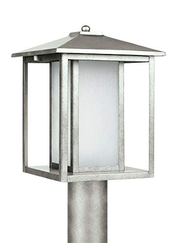 Sea Gull Lighting 89129-57 Huntington Outdoor Fixture One-Light Weathered Pewter Finish - Weathered Pewter Finish