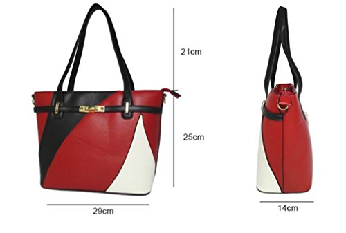 Casual HandbagsLadies Bag Female Tote Handbags Purple Bag Patchwork Shoulder Women Bags Women's Hand Leather vXBn1