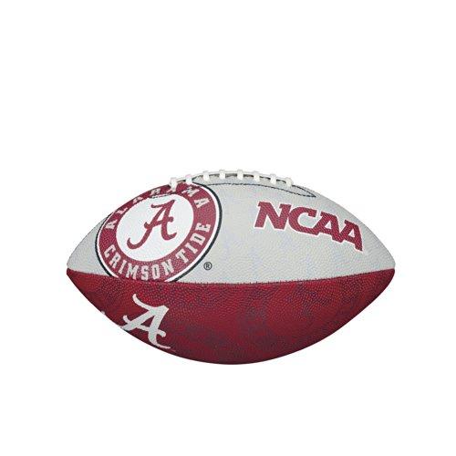 NCAA Alabama Crimson Tide Team Logo Junior Super Grip Football Alabama Crimson Tide Grips