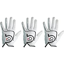 FINGER TEN 2018 Mens All Premium Soft Cabretta Leather Tour Fit Grip Left Hand Lh Right Hand Rh Cadet Size Golf Gloves Value 3 Pack Size from Small to XXL