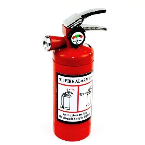 Fire Design (Fire Extinguisher Design Flame Lighter with LED Flashlight Red)