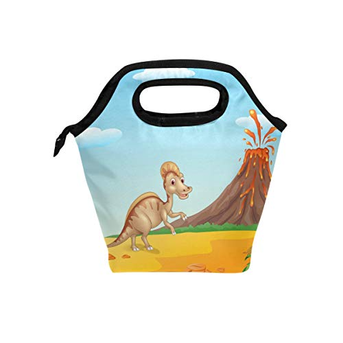 Lunch Tote Bag Hadrosaur Neoprene Insulated Cooler for sale  Delivered anywhere in USA