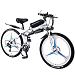 41wyy6gPgQL. SS150 JXH 26''Folding Electric Mountain Bike per Adulti, MTB con Freni a Disco Doppio, Rimovibile Biciclette Grande capacità…