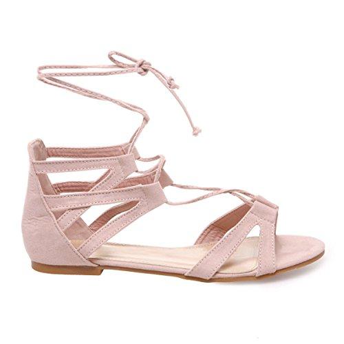 La Modeuse - Sandalias de vestir para mujer, rosa (Rose), 41 EU