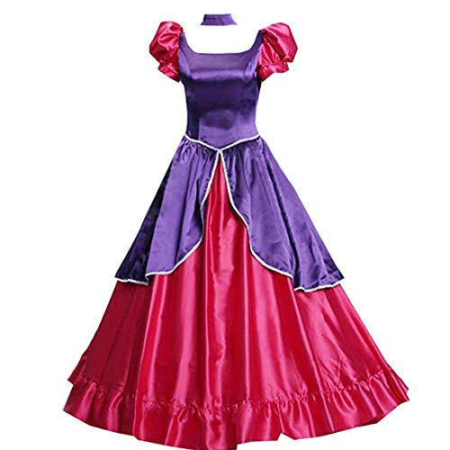 Adult Anastasia Tremaine Cosplay Costume Fancy Red Court Dress Halloween -