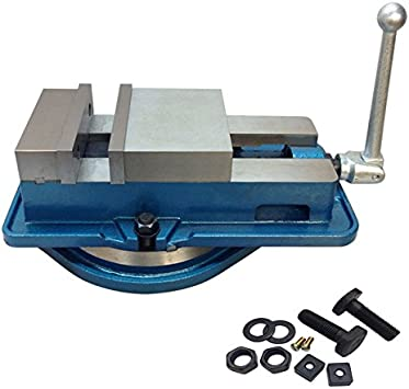 Milling Machine Lockdown Vise 360 Degree Swiveling Base Hardened Metal