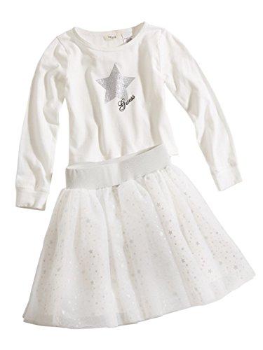 GUESS Kids Little Girl Glitter Star Top and Tutu Skirt Set (2-6x)