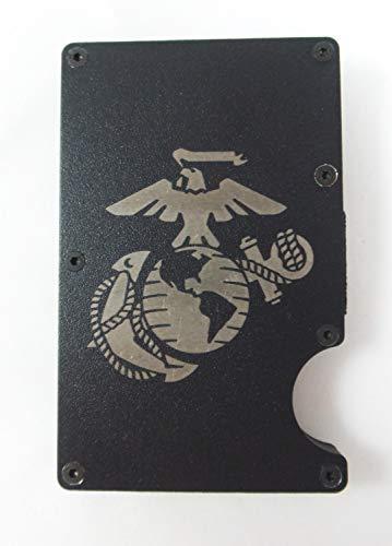 EGA Engraved Metal RFID Blocking Tactical Minimalist Wallet w/Money Clip Marine Corps (EGA Only)